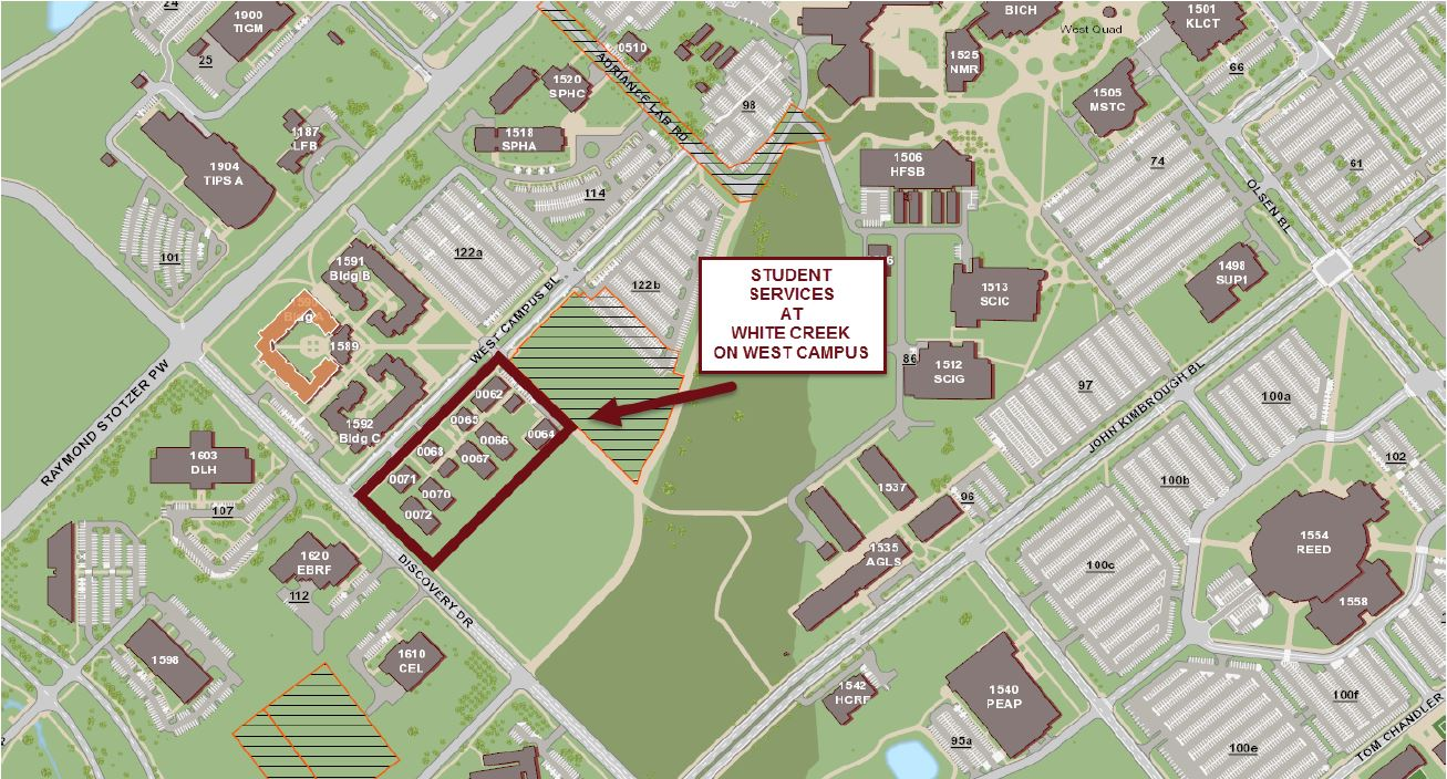 Campus Map Texas Am.Maps Student Services White Creek